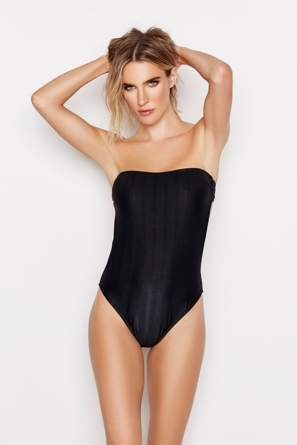CHANCE ONE-PIECE - JET RIBBED - Ris-k Swimwear