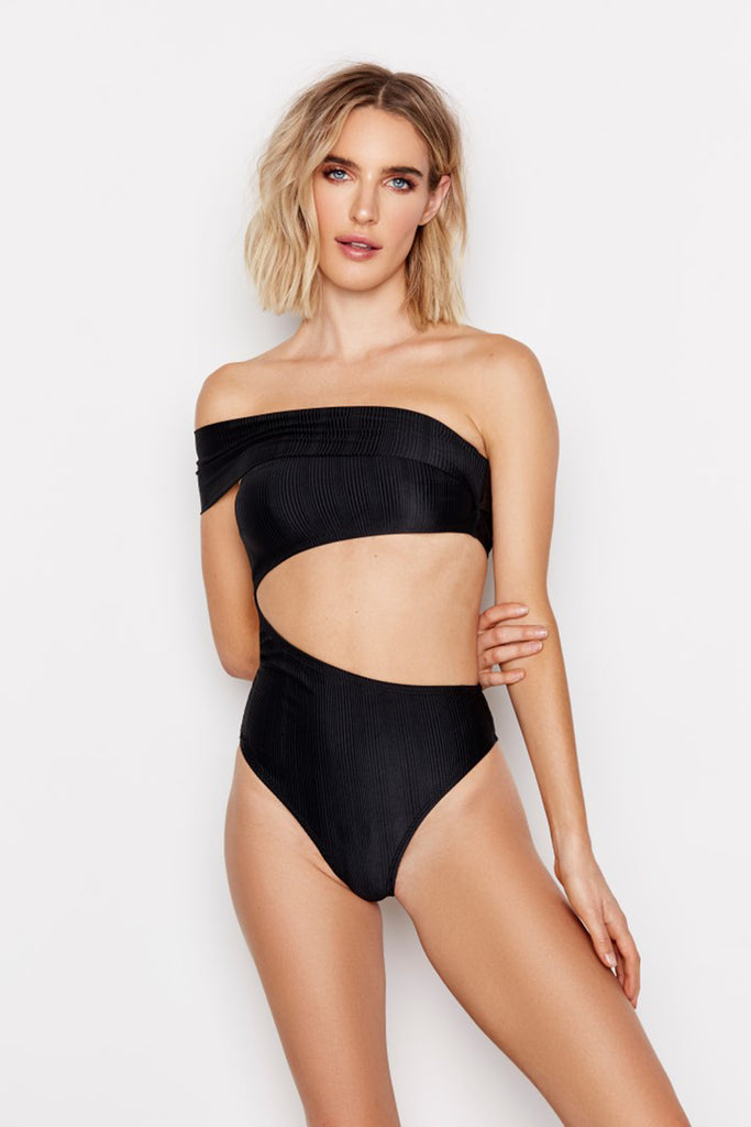 ODYSSEY ONE-PIECE -  JET RIBBED - Ris-k Swimwear