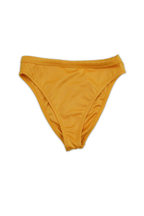 Risk Swimwear LUCE Bikini Bottom in Shimmer Citrine - Front - RIS-K