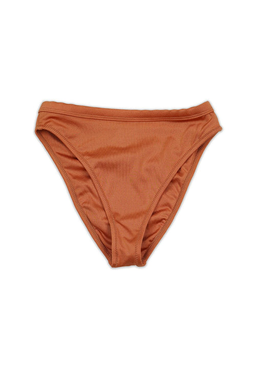 LUCE BIKINI BOTTOM - SHIMMER COPPER - Ris-k Swimwear