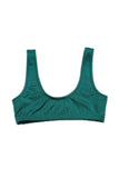SHORE BIKINI TOP - SHIMMER EMERALD - Ris-k Swimwear