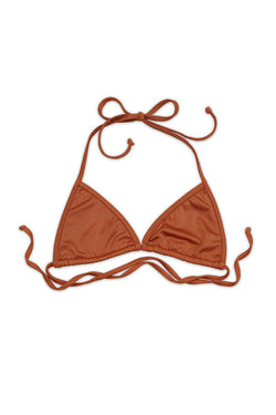 FLUX BIKINI TOP - SHIMMER COPPER - Ris-k Swimwear