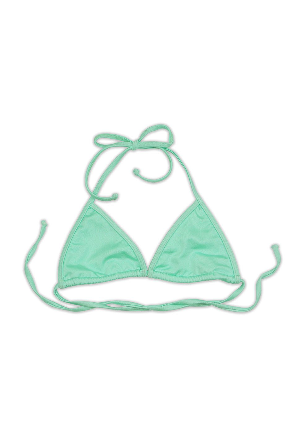 Risk Swim FLUX Bikini Top in Shimmer Menthol - Front - RIS-K