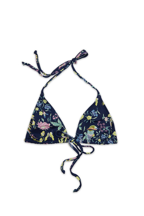Risk Swim Destination Adjustable Triangle Bikini Top in Vagabond Multi - Front - RIS-K