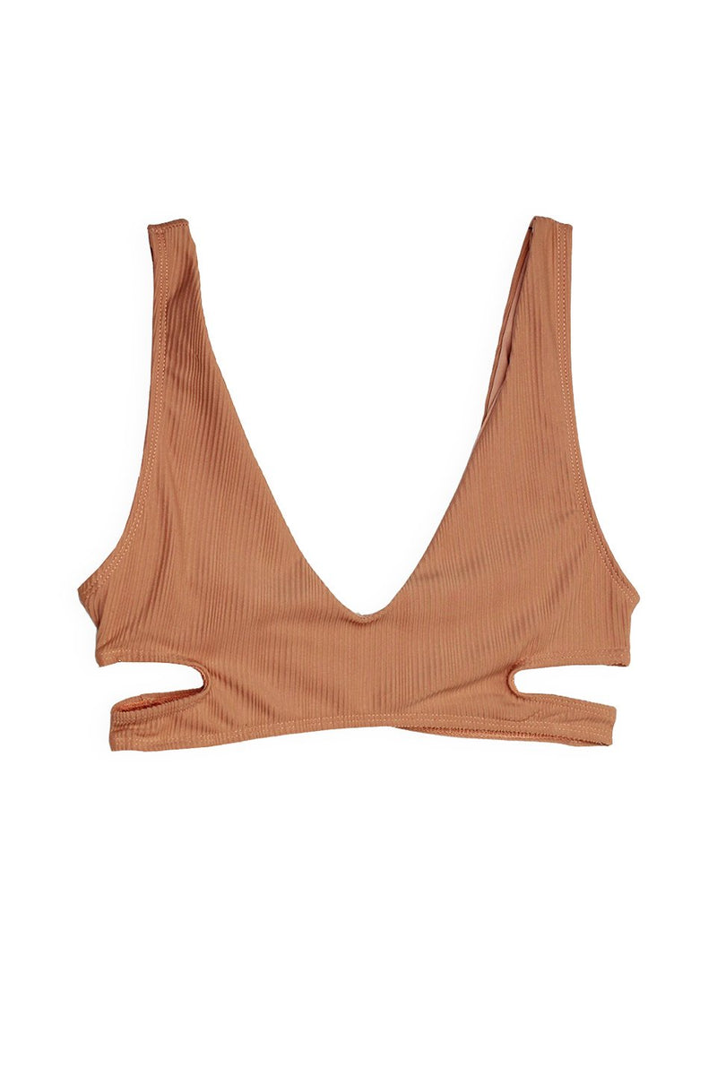 JOURNEY SIDE BIKINI TOP -  NUDE - Ris-k Swimwear