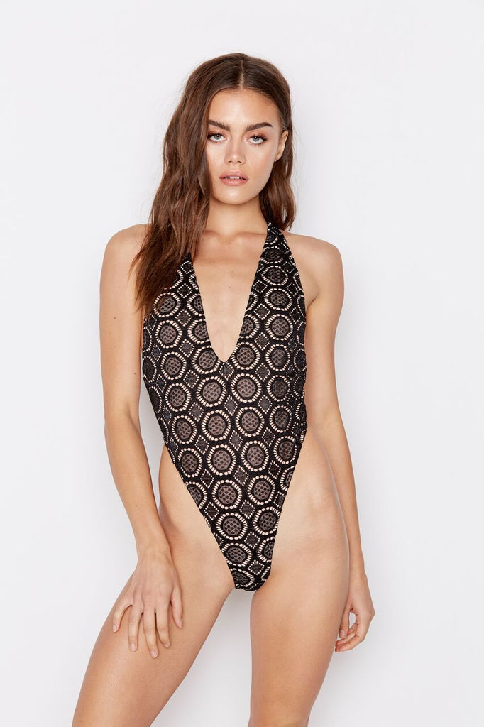 PARADISE ONE-PIECE - BELLA NOIR - Ris-k Swimwear