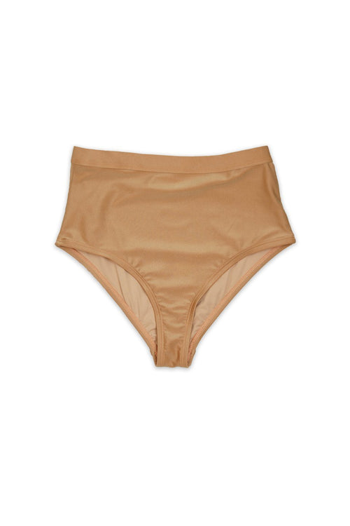 Risk Swimwear ROAM Bikini BOTTOM in Shimmer Nude - Front - RIS-K