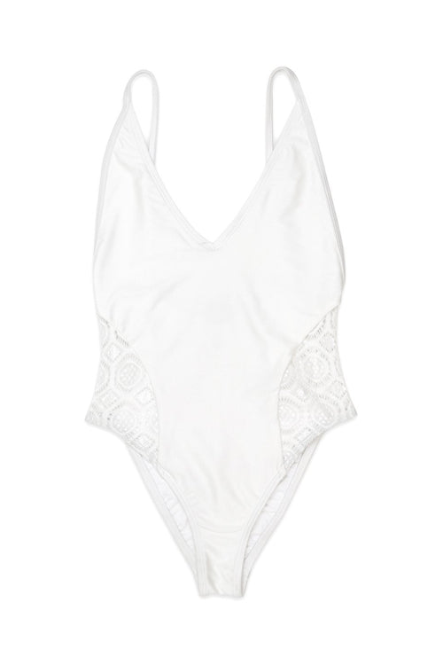 Risk Swimsuit - TESORO One Piece Swimsuit in Bella Blanc Front - RIS-K