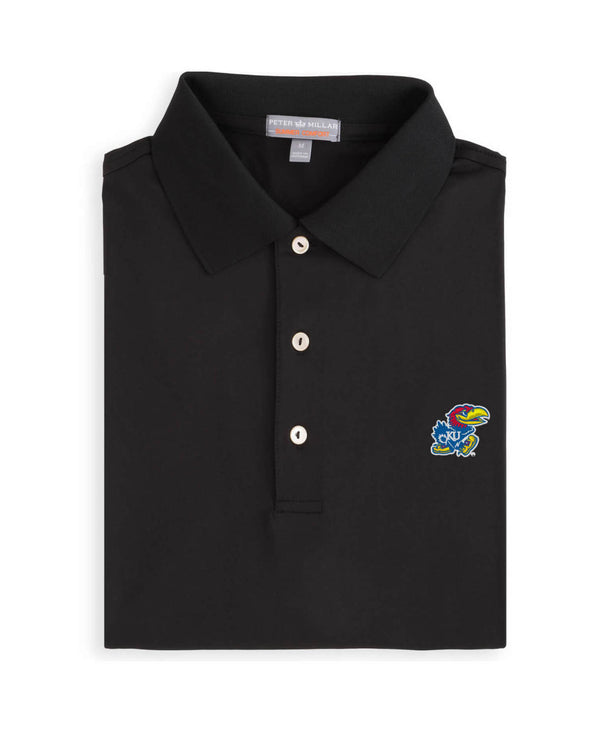 Black Kansas Jayhawk Polo