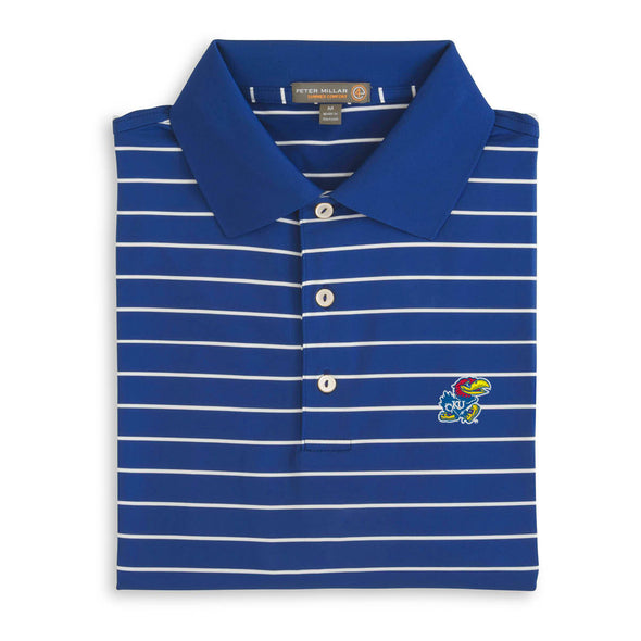 Blue & White Stripe Kansas Polo