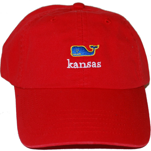 "Red ""Kansas"" Whale Cap"