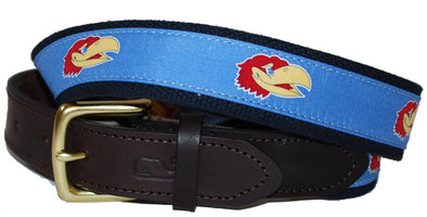 Jayhawk Canvas Club Belt