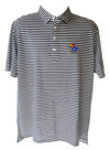 Black & White Striped Kansas Polo