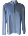 Blue University of Kansas 1/4 Zip Pullover