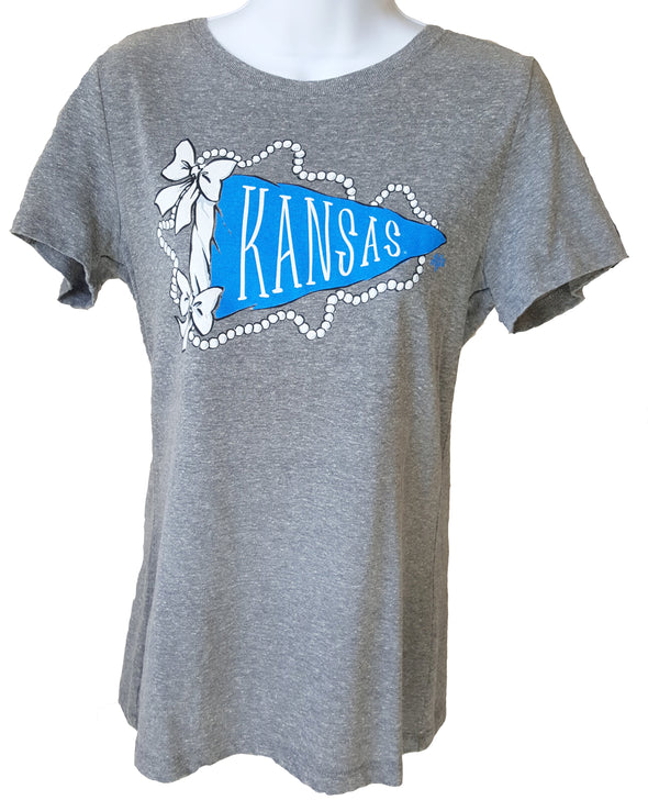 Women's Kansas Preppy Pennant Short-Sleeve T-Shirt