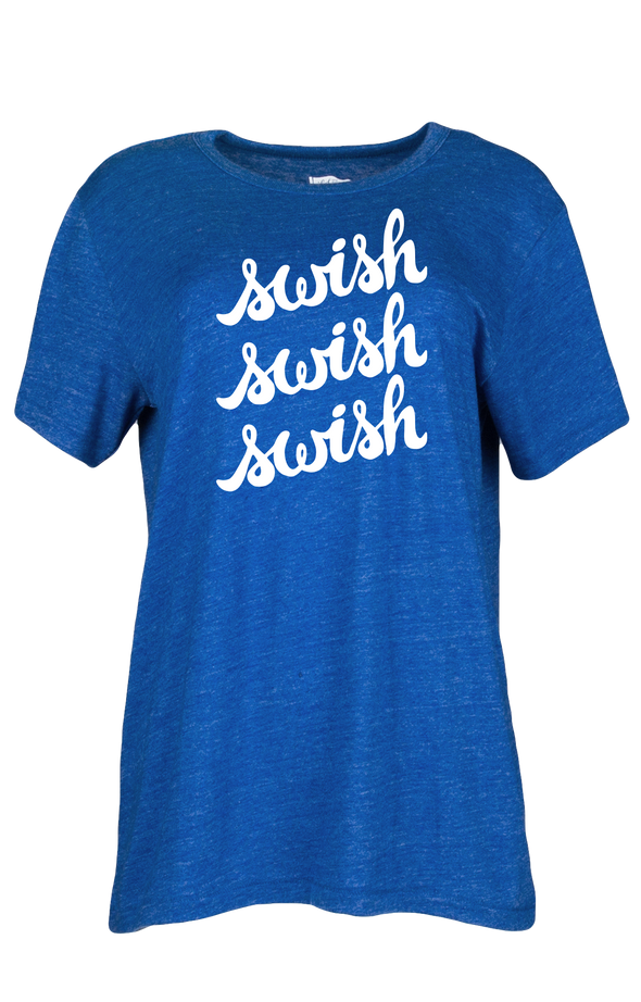 Women's Blue Swish Short-Sleeve T-Shirt