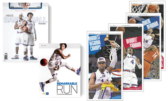 Set of Four Journal-World 2018 Page Reprints +  KU Men's Basketball Magazine Set