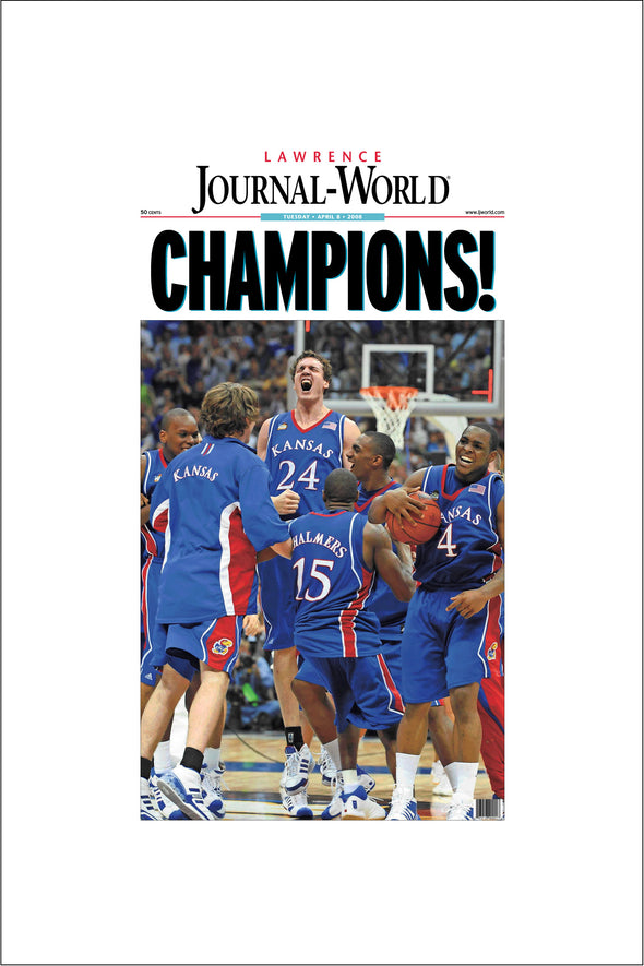 2008 Champions LJW Front Page Reprint