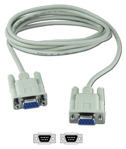 Serial Null Modem Cable DB9F to DB9F RS232/RS-232 - Lightning Computers