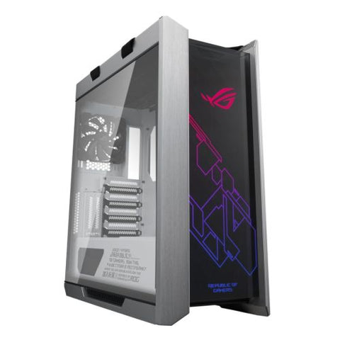 Asus ROG Strix Helios RGB White Gaming Case with with Tempered Glass Windows, E-ATX, GPU Braces, USB-C, Fan/RGB Controls, Carry Handles