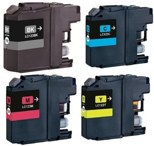 Brother Ink LC123 Full Set of 4 inks - Lightning Computers