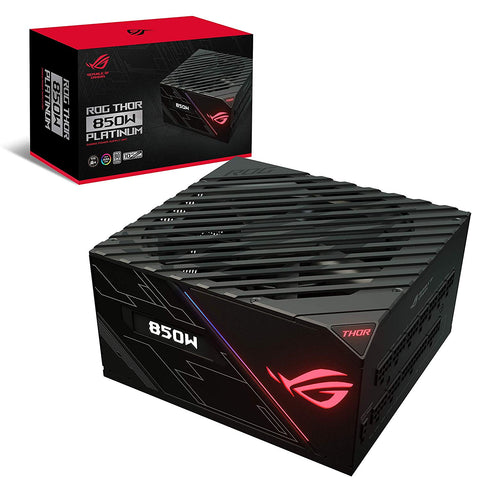 ASUS ROG Thor 850 W Platinum Power Supply Unit with Aura Sync and OLED Display