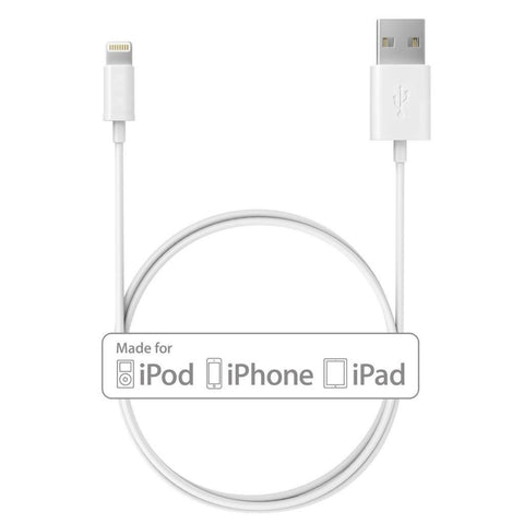 Apple Sync and Charge 1m USB Data Lightning Cable for iPhone 5/5S/6/6 Plus and iPad Air/Mini - Lightning Computers