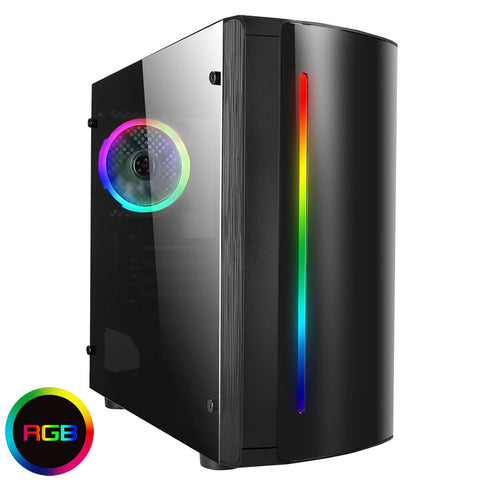 CiT Beam Mid Tower Gaming Case - Black