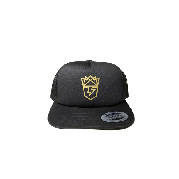 ThunderKing Summer Hat snapback mesh coffee gold logo vinyl yupong