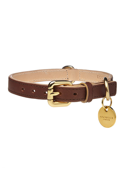 Classic Dog Collar Dark Brown