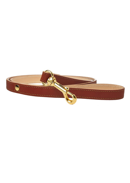 Classic Dog Lead Brown