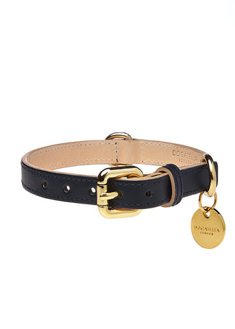 Classic Dog Collar Navy Blue