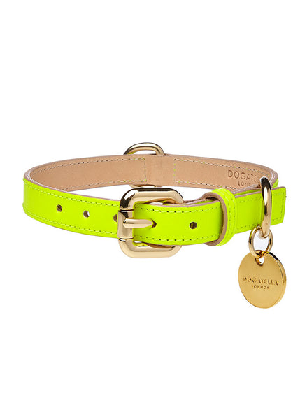 Glow Dog Collar Neon Yellow