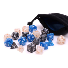 3 unique dice sets