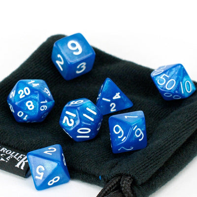 7 Piece Blue Frost Dice Set