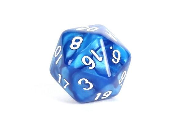 Blue Marble 7 Piece Set With Bag Easy Roller Dice Company