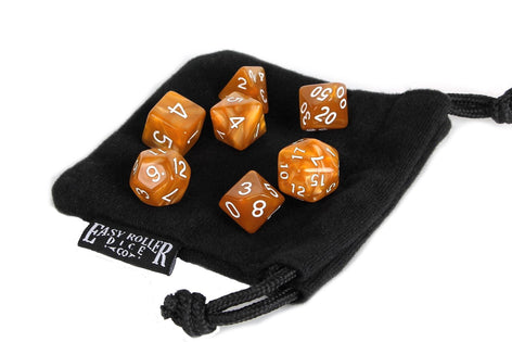 Brown and Amber 7 Piece Dice Set