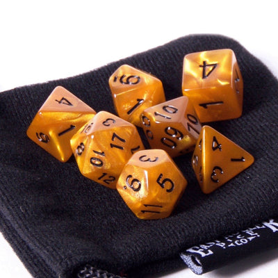 Burnt Amber 7 Dice Set