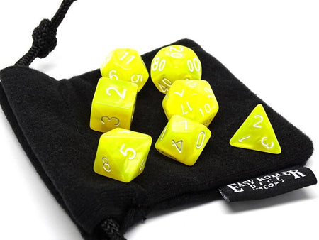 Lemon Swirl 7 Piece Dice Set - Free Small Dice Bag Included