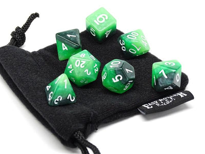 forest swirled dice