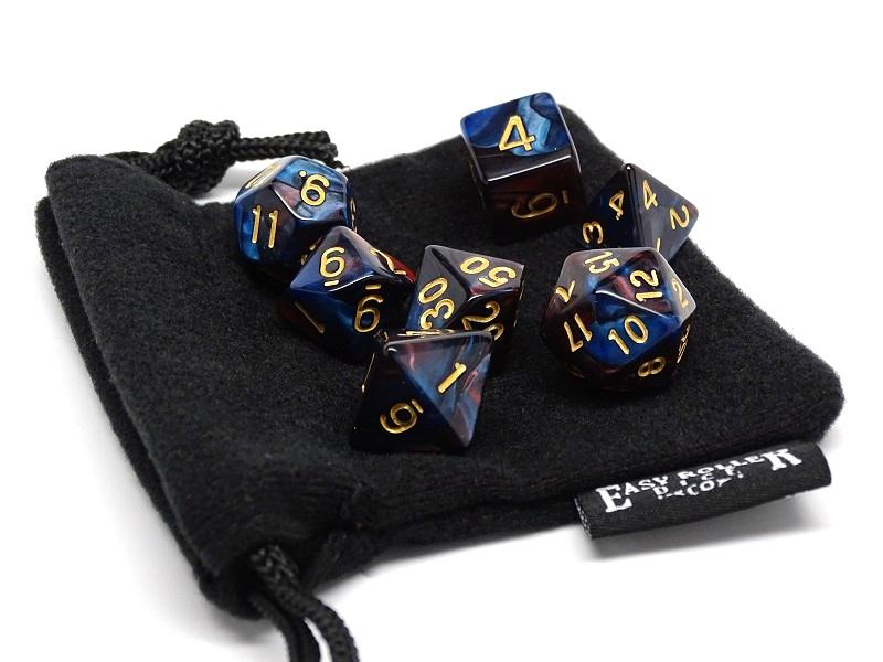 Royal Swirl Dice Collection - 7 Piece Set