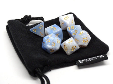 Ivory Cloud Dice Collection - 7 Piece Set
