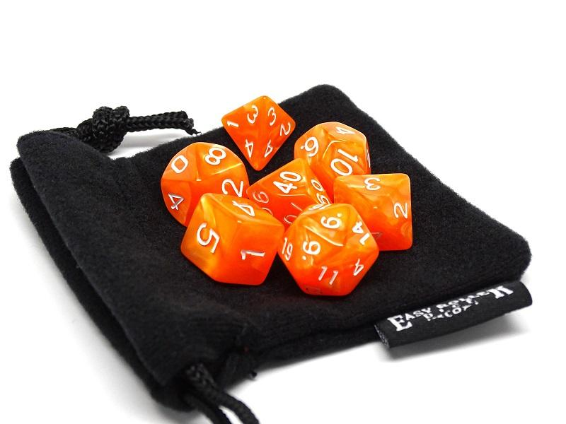 Orange Marble - 7 Piece Set with Bag
