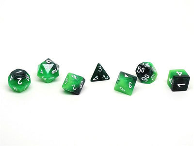 Forest 3-Tone Dice Collection - 7 Piece Set