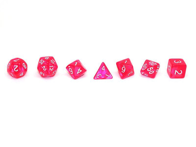 Rose Marble Dice Collection - 7 Piece Set