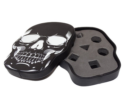 Skull Dice Display Box | Black | 7 or 10 Piece
