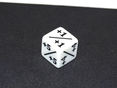6 Sided Counter Dice - White +1/+1