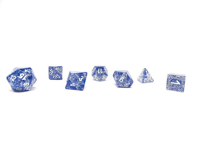 Blue Sparkle 7 Piece Set With Bag