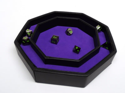 Raven Dice Tray With Dice Staging Area and Lid