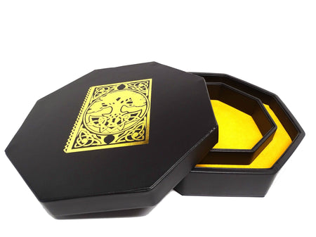 Spell Book Dice Tray With Dice Staging Area and Lid